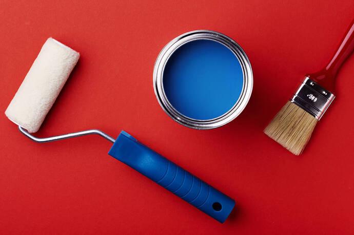 outils-peinture-pinceau-rouleau